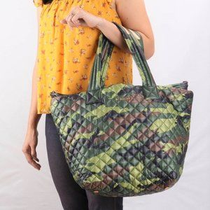 NWT Mz Wallace Medium Metro Quilted Tote Camo